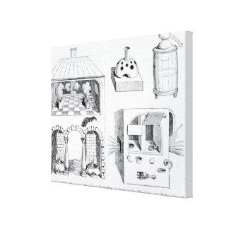 炉およびさまざまな器具 キャンバスプリント