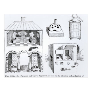 炉およびさまざまな器具 ポストカード