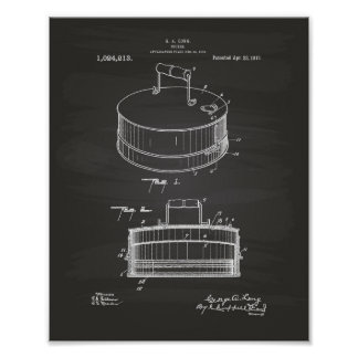 炊事道具1912のパテントの芸術の黒板 ポスター