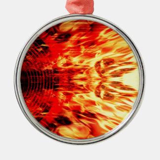 炎が付いている音楽スピーカー メタルオーナメント