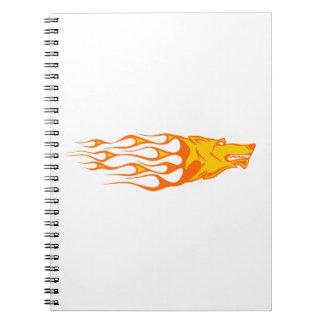 炎のオオカミ ノートブック