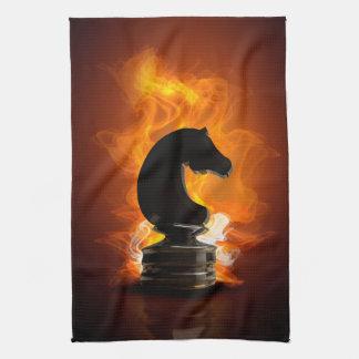 炎のチェスの騎士 キッチンタオル