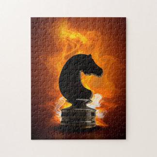 炎のチェスの騎士 ジグソーパズル