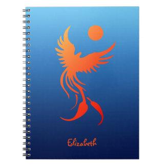 炎のノートの上昇のフェニックス ノートブック