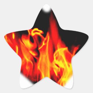 炎のハート 星シール