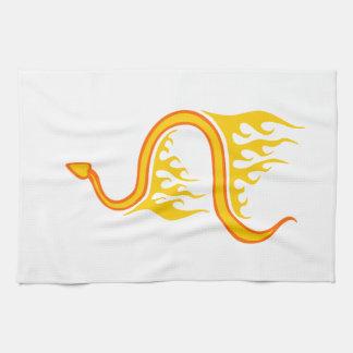 炎のヘビ キッチンタオル