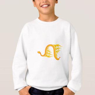 炎のヘビ スウェットシャツ