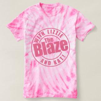 炎のポッドキャストの絞り染めのワイシャツ Tシャツ