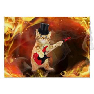 炎のロッカー猫 カード