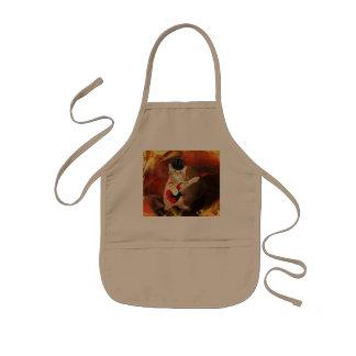 炎のロッカー猫 子供用エプロン