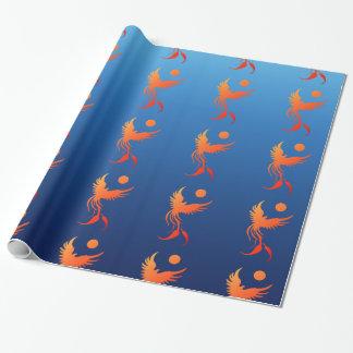 炎の包装紙の上昇のフェニックス ラッピングペーパー