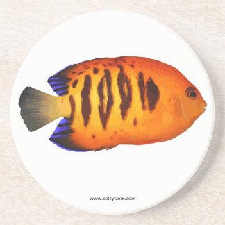 炎の天使の魚のコースター コースター