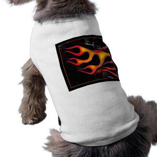 炎の小犬のワイシャツを改造しました ペット服