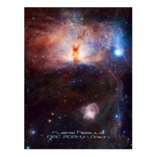 炎の星雲の火-オリオンのNGC 2024年 ポストカード