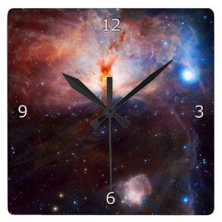 炎の星雲の火 スクエア壁時計