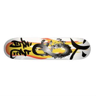 炎の火のドラゴン3Dの組合せのスケートボード 20CM スケートボードデッキ