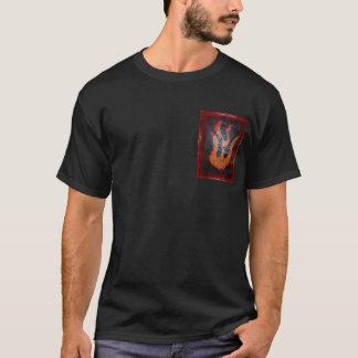炎の解き難いデザイン Tシャツ