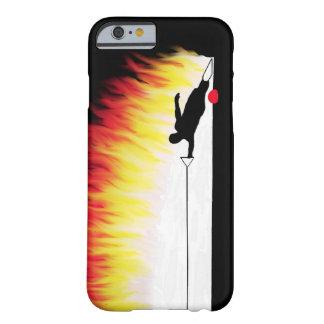 炎を持つスラローム水スキーヤー iPhone 6 ベアリーゼアケース