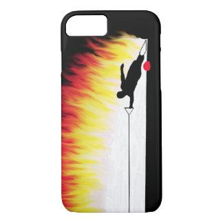 炎を持つスラローム水スキーヤー iPhone 7ケース
