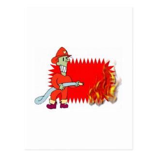 炎を持つ消防士 ポストカード