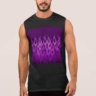 炎を競争させる紫色 袖なしシャツ