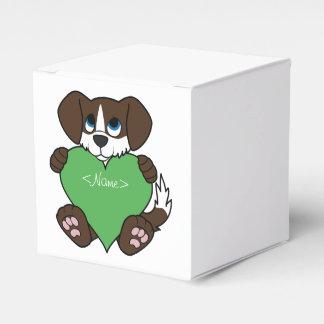 炎及び緑のハートのバレンタインチョコレート犬 フェイバーボックス