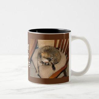 炎猫の昼寝 ツートーンマグカップ