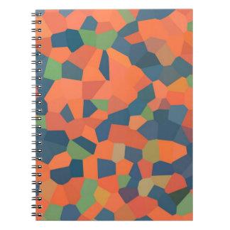 炎、真夜中、緑の螺線形ノート ノートブック