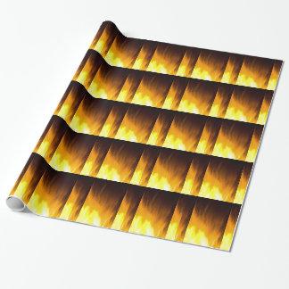 炎、黄色、黒い赤 ラッピングペーパー