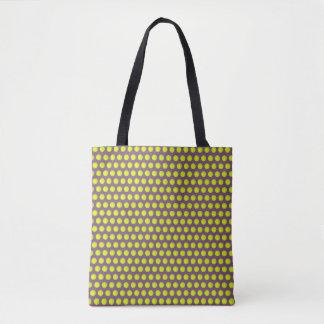 点々のあるなデザインのハンド・バッグ トートバッグ