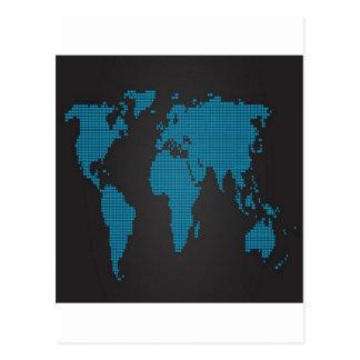 点々のあるな世界地図のデザイン ポストカード