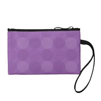 点々のあるな紫色の鍵の硬貨のクラッチ