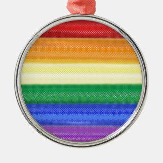 点々のあるな虹 メタルオーナメント