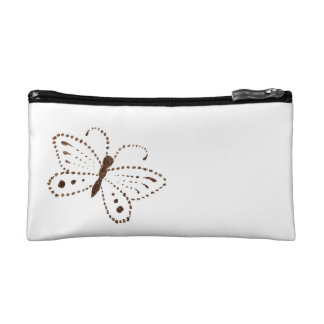 点々のあるな蝶化粧品のバッグ コスメティックバッグ