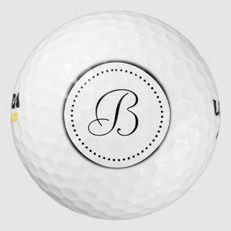 点とのモノグラムの白 ゴルフボール