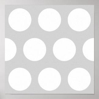 点と薄い灰色 ポスター