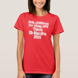 点のチーム文明2016ティーのための共和党員 Tシャツ