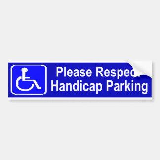 点のハンディキャップの駐車 バンパーステッカー