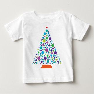 点の木のカッコいい ベビーTシャツ