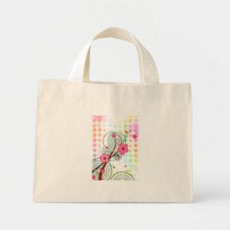点の花柄 ミニトートバッグ