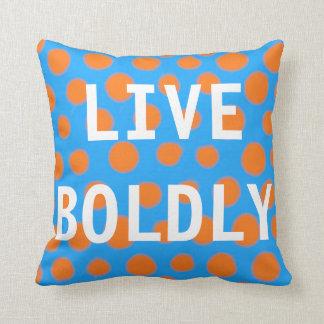 点の芸術の投球の装飾の枕は大胆に住んでいます クッション