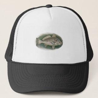 点の魚のロゴ キャップ