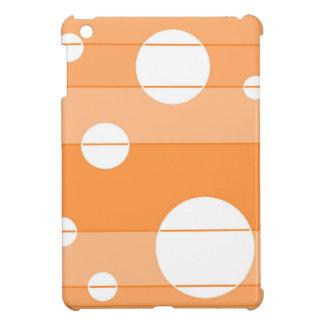 点はオレンジで縞で飾り、 iPad MINIケース