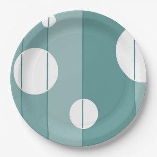 点はWinterGreenで縞で飾り、 ペーパープレート