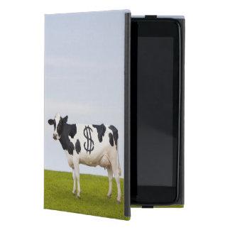 点を持つホルスタイン乳牛の形をした iPad MINI ケース