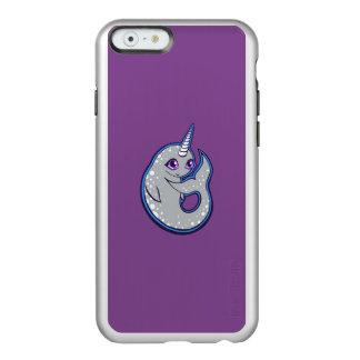 点インクスケッチのデザインのNarwhalの灰色のクジラ Incipio Feather Shine iPhone 6ケース