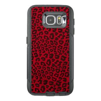 点刻されたクランベリーの赤いヒョウのプリント オッターボックスSamsung GALAXY S6ケース