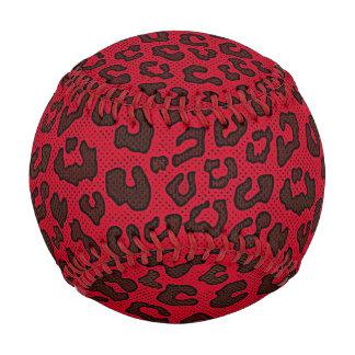 点刻されたクランベリーの赤いヒョウのプリント 野球ボール