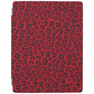 点刻されたクランベリーの赤いヒョウのプリント iPadスマートカバー