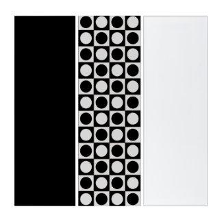 点及び正方形/白黒 + あなたのアイディア トリプティカ